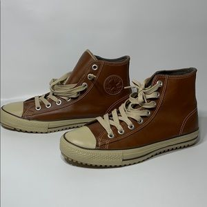 Converse All Star Leather Brown S-z 10.5 pre-owned